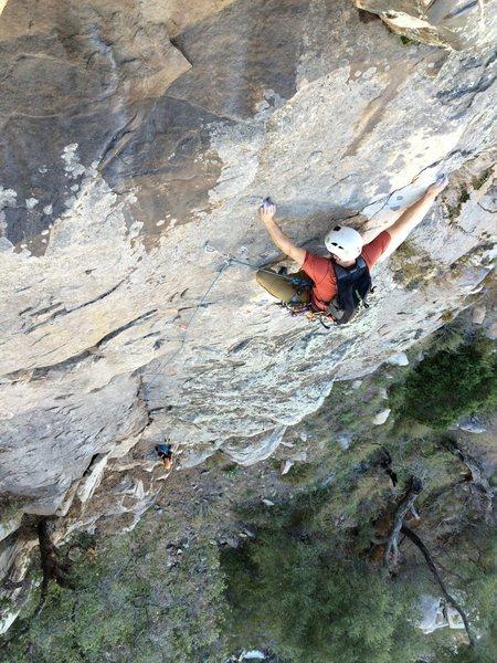 Rock Climbing Photo: 1st pitch of Rogue Goat