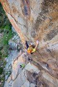 Rock Climbing Photo: Josh on Kode Man direct, 12b/c