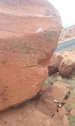 Rock Climbing Photo: A better look at the strange top out of chalk chak...