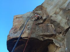 Rock Climbing Photo: Pre-bolts on the goat