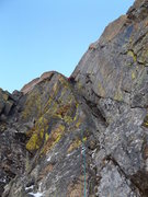 Rock Climbing Photo: Alexander's Chimney P6 on Long's. Conditio...