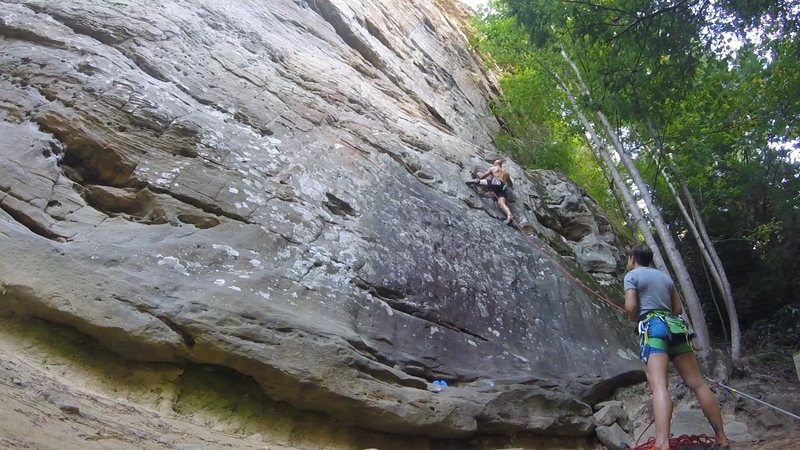 Rock Climbing Photo: Rat Stew 5.10a RRG
