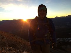 Rock Climbing Photo: Sunrise on Peak 1.