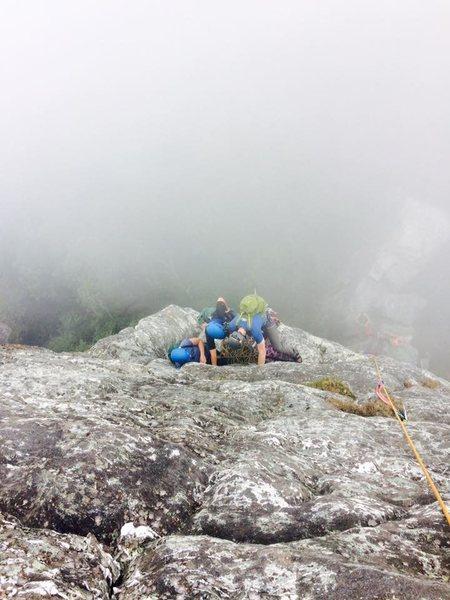 Dense fog on North Ridge