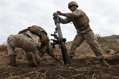Rock Climbing Photo: 81mm mortar