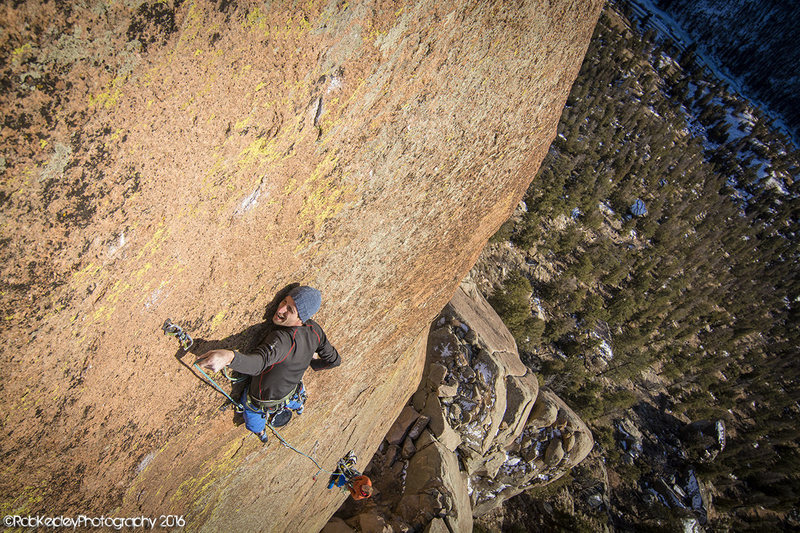 """Matt Reeser on an early attempt of freeing the """"mega pitch"""" which later went free at 13d."""