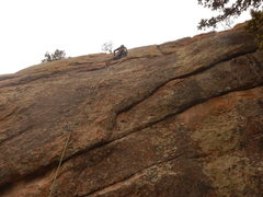 Rock Climbing Photo: Gerod at the crux.