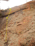 Rock Climbing Photo: The start of the climb.  Note: the draws are on Sl...