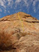 Rock Climbing Photo: The start of the climb.
