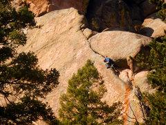 Rock Climbing Photo: Entering the squeeze.