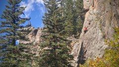 Rock Climbing Photo: Fall climbing on Unconchas
