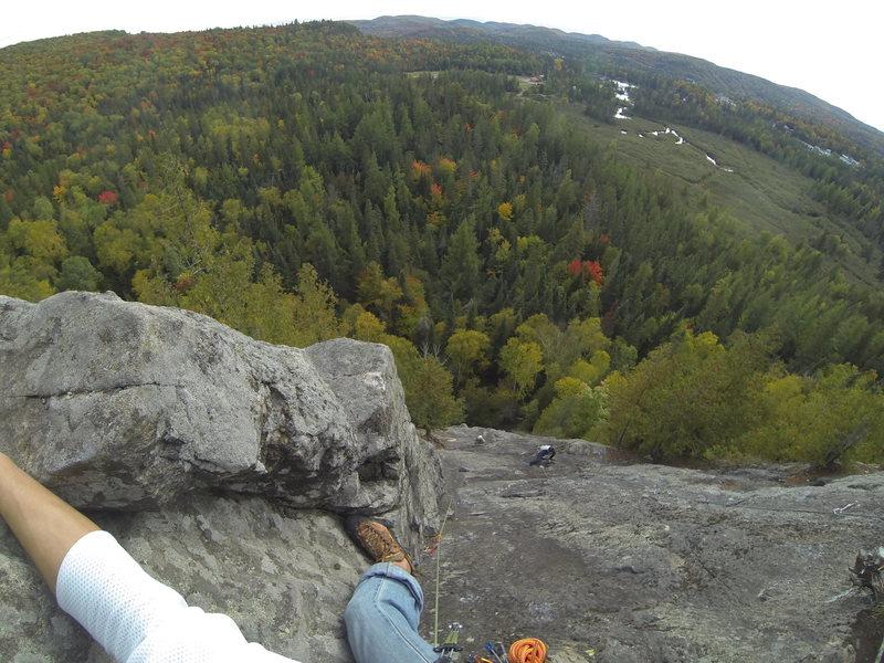 Rock Climbing Photo: Diedre variation