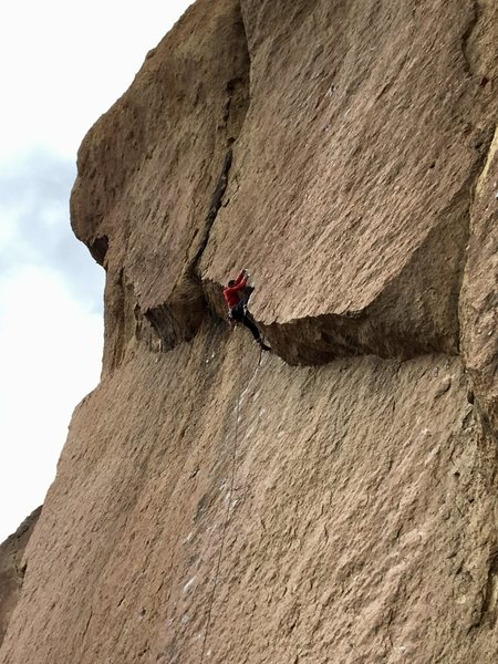 Rock Climbing Photo: The final roof.