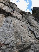 Rock Climbing Photo: My 8 year old son, Moshe, sending his first outdoo...