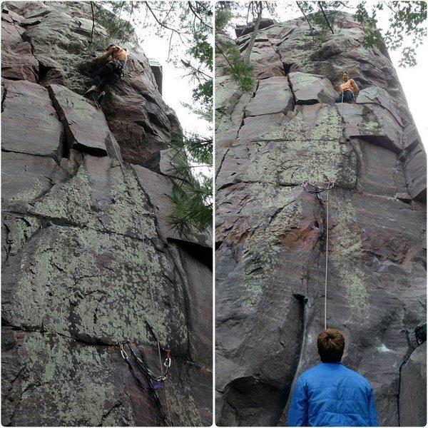 Rock Climbing Photo: Finishing it up...
