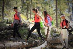 Rock Climbing Photo: Youth volunteers 1