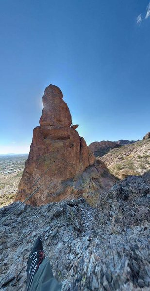 Rock Climbing Photo: Greevers needle as seen from the lower summit