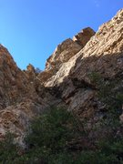 Rock Climbing Photo: This is the gully you scramble up