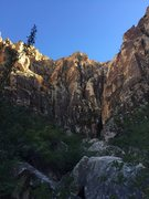 Rock Climbing Photo: Ice Box canyon with classic left facing corner Wat...