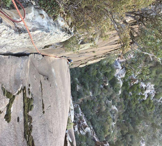Rock Climbing Photo: Classic splitter corner on Waterboys. You will not...