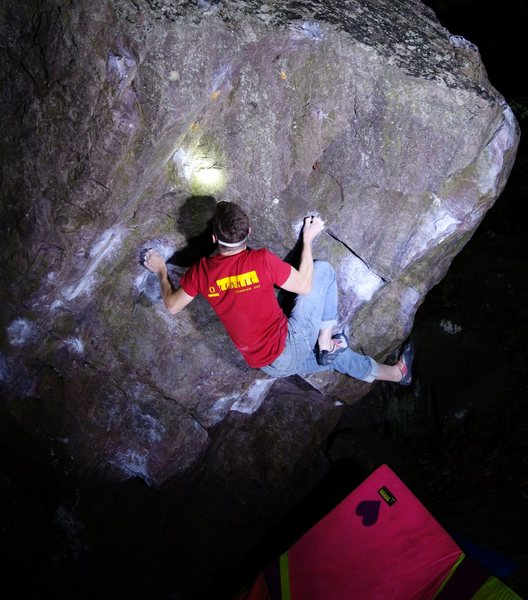 Rock Climbing Photo: Very cool movement on this problem.