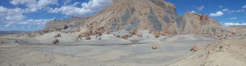 Rock Climbing Photo: A Panorama of the main field at NP230