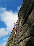 Rock Climbing Photo: Short climb, but still - it's Stanage Edge.  H...