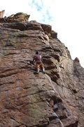 Rock Climbing Photo: Resting before the second crux. Pump was a big fac...