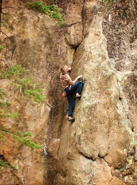 Rock Climbing Photo: It's a bit crunchy and dirty yet but the dihed...