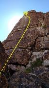 Rock Climbing Photo: Face climbing between good gear