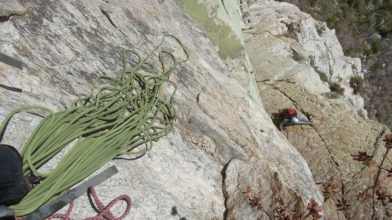 Rock Climbing Photo: on top of 3rd pitch