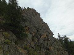 Rock Climbing Photo: Chuck on the FA.