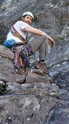 Rock Climbing Photo: At the bottom of North Ridge, Table Rock, NC.