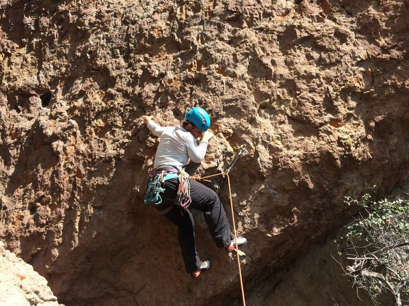 "Rock Climbing Photo: Executing the opening moves of ""Inspect Her C..."