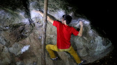 Rock Climbing Photo: Picture showing the hard shoulder move to the side...