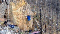 Rock Climbing Photo: The heel hook move.