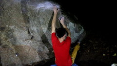 """Rock Climbing Photo: Starting holds for """"Missile Command""""."""
