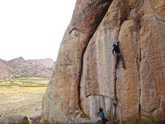 Rock Climbing Photo: Brett Baekey onsighting. if only it were 3 times a...