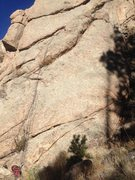 Rock Climbing Photo: A rope on the easier, 5.8 variation.