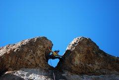 Rock Climbing Photo: Tiffany Bongin' it up.