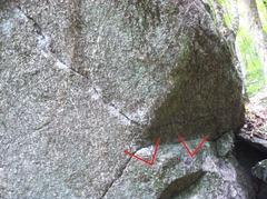 Rock Climbing Photo: A closer shot of the start.