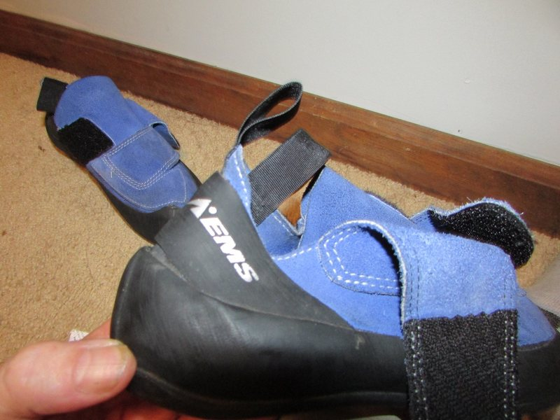 A favorite Blue Suede shoe!<br> Blue, Velcro, instead of the elastic on Mocs.