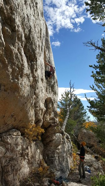 Rock Climbing Photo: Big jugs on the bulge