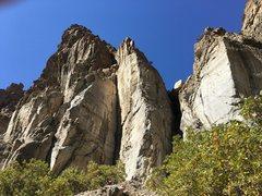 Rock Climbing Photo: Stretchmarks area