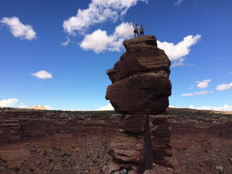 #12 South Kachina Tower - Mostly just a long hike, a short OW, and a bolt ladder.. I'll be back for the north tower! (which seems quite a bit trickier)<br>