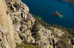 Rock Climbing Photo: Soloing the All American Finger Crack. Couldn'...