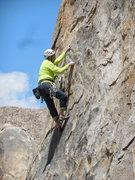 "Rock Climbing Photo: Pulling flakes on ""Starburst."""