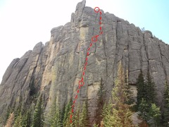 Rock Climbing Photo: Elrod's Epic 5.9
