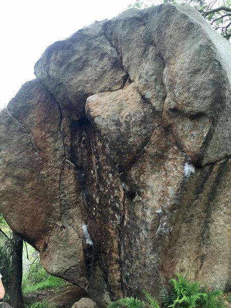 Rock Climbing Photo: Lindner Crack on left, some hard thing on the arê...