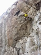 Rock Climbing Photo: Matt Reeser just after the opening campus move get...